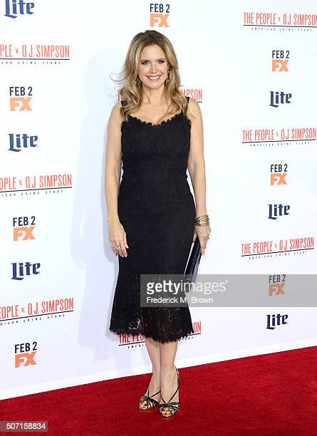 Actress Kelly Preston attends the premiere of FX's 'American Crime Story The People V OJ Simpson' at Westwood Village Theatre on January 27 2016 in...