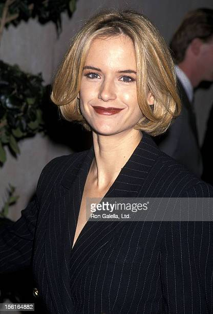 Actress Kelly Preston attends the 'Ready to Wear' Westwood Premiere on December 14 1994 at Avco Center Cinemas in Westwood California