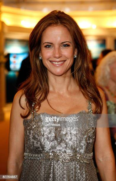 Actress Kelly Preston poses during the 39th annual Church of Scientology anniversary gala held at The Church of Scientology Celebrity Centre...