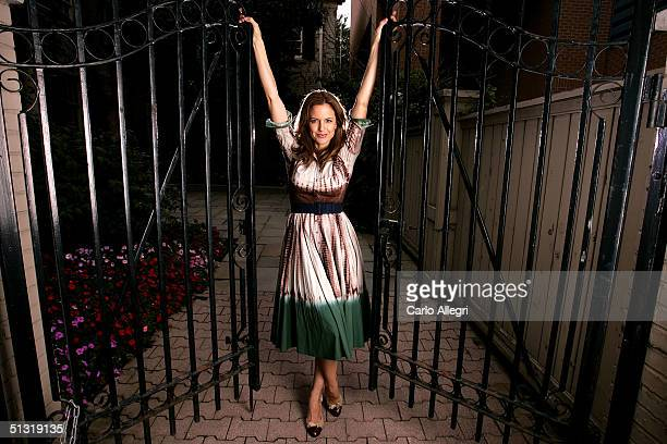 Actress Kelly Preston poses for a portrait while promoting the film Return To Sender at the Toronto International Film Festival September 17 2004 in...