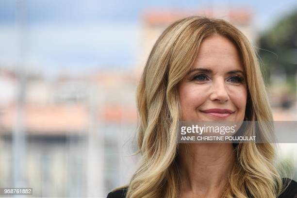 US actress Kelly Preston poses on May 15 2018 during a photocall for the film Gotti at the 71st edition of the Cannes Film Festival in Cannes...