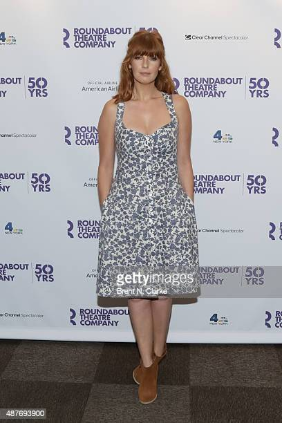 Actress Kelly Reilly arrives for Roundabout's 50th anniversary season party held at the Roundabout Theatre Company on September 10, 2015 in New York...