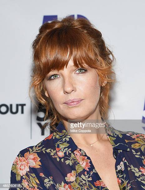 Actress Kelly Reilly attends the Old Times Broadway Cast Photocallon August 26 2015 in New York City