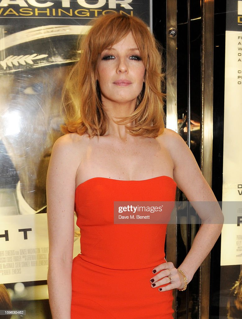 Actress Kelly Reilly attends the UK Premiere of 'Flight' at the the Empire Leicester Square on January 17, 2013 in London, England.