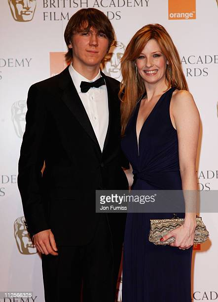 Actress Kelly Reilly poses with actor Paul Dano in the Press Room during The Orange British Academy Film Awards 2008 at The Royal Opera House, Covent...