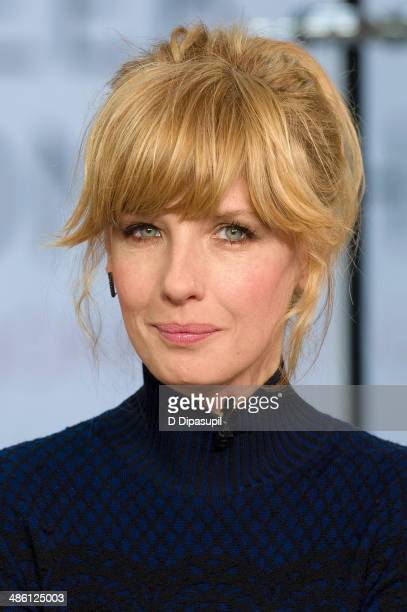 Actress Kelly Reilly visits 'Extra' at their New York studios at H&M in Times Square on April 22, 2014 in New York City.