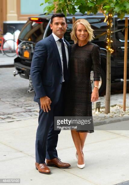 Actress Kelly Ripa and Mark Consuelos are seen iin Soho on September 3 2014 in New York City