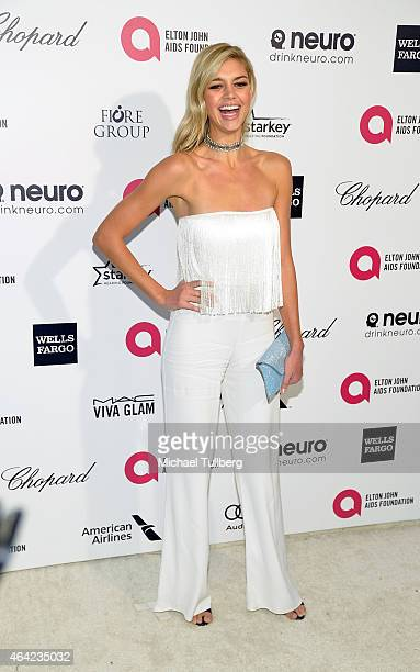 Actress Kelly Rohrbach attends the 23rd Annual Elton John AIDS Foundation Academy Awards Viewing Party on February 22, 2015 in Los Angeles,...