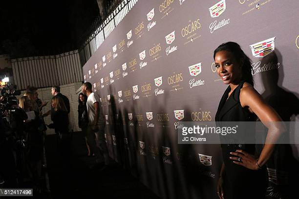 Actress Kelly Rowland attends Cadillac Celebrates The 88th Annual Academy Awards at Chateau Marmont on February 25 2016 in Los Angeles California