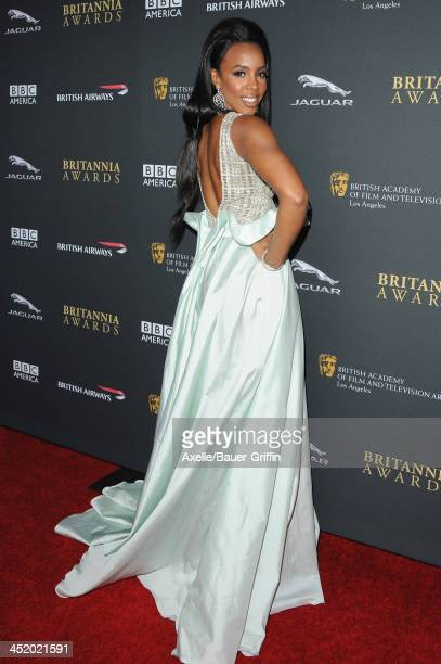 Actress Kelly Rowland attends the BAFTA Los Angeles Britannia Awards at The Beverly Hilton Hotel on November 9, 2013 in Beverly Hills, California.