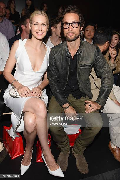 Actress Kelly Rutherford and her brother Anthony Rutherford attend Son Jung Wan Spring 2016 during New York Fashion Week The Shows at The Dock...