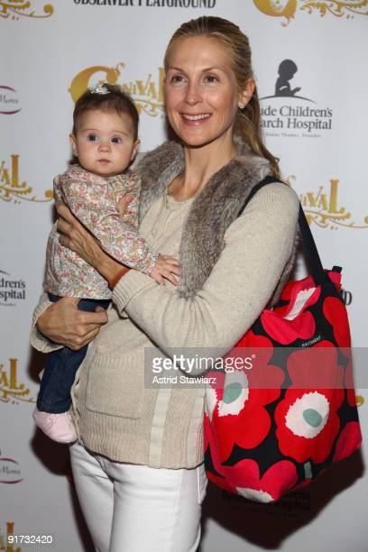 Actress Kelly Rutherford and her daughter Helena Giersch attend Bowlmor Lanes' opening of Carnival with a day for the family at Carnival at Bowlmor...