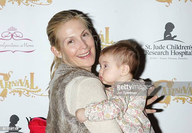 Actress Kelly Rutherford and her daughter Helena Giersch attends Kids Day at Carnival at Bowlmor Lanes on October 10 2009 in New York City