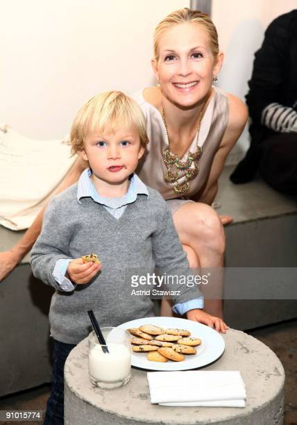 Actress Kelly Rutherford and son Hermes attend the Obakki spring - summer 2010 collection presentation at The Soho Grand - Yard Bar on September 21,...