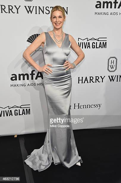 Actress Kelly Rutherford attends the 2015 amfAR New York Gala at Cipriani Wall Street on February 11 2015 in New York City