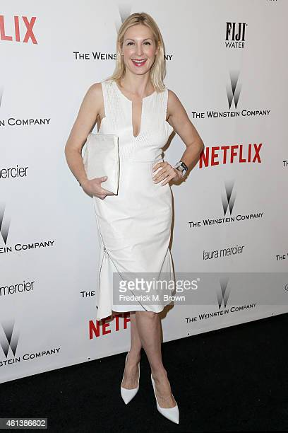 Actress Kelly Rutherford attends the 2015 Weinstein Company and Netflix Golden Globes After Party at Robinsons May Lot on January 11 2015 in Beverly...