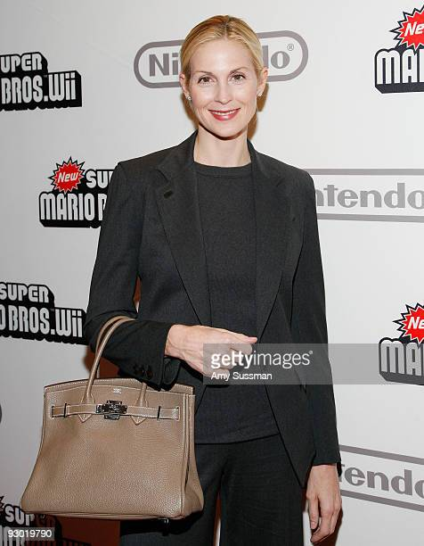 Actress Kelly Rutherford attends the 25 years of Mario celebration at the Nintendo World Store on November 12 2009 in New York City