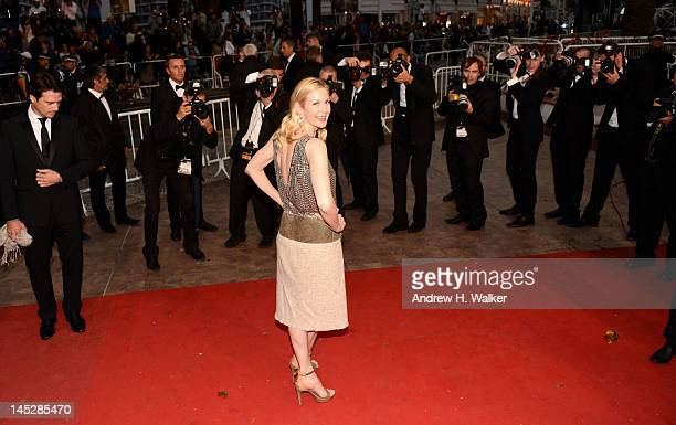 Actress Kelly Rutherford attends the Cosmopolis premiere during the 65th Annual Cannes Film Festival at Palais des Festivals on May 25 2012 in Cannes...