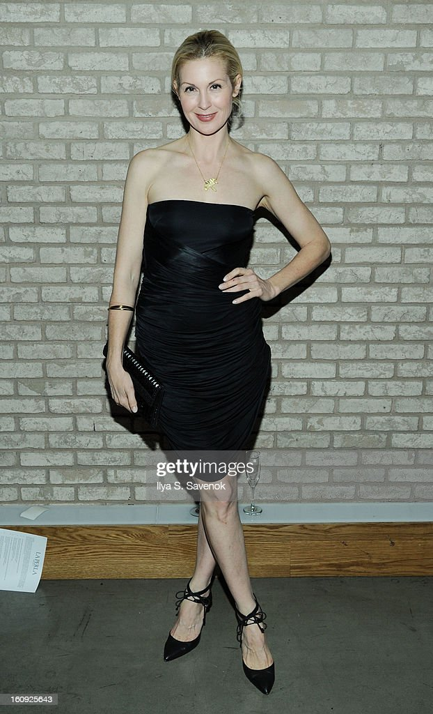 Actress Kelly Rutherford attends the La Perla fall 2013 presentation during Mercedes-Benz Fashion Week at The Gallery at The Dream Downtown Hotel on February 7, 2013 in New York City.
