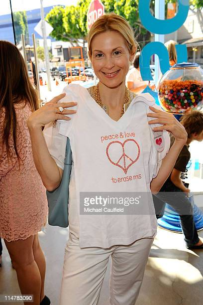 Actress Kelly Rutherford attends the Race To Erase MS fundraiser held at Kitson on Melrose to kick off May as multiple sclerosis awareness month on...