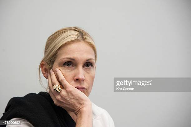 Actress Kelly Rutherford founder of Children's Justice Campaign speaks during a Capitol Hill briefing to discuss 'the silent suffering of American...