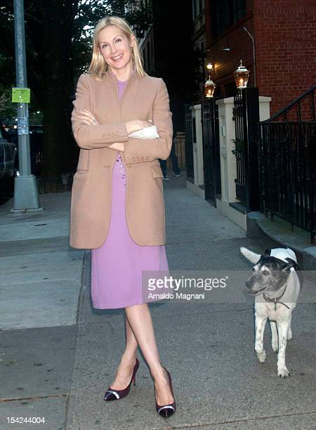 Actress Kelly Rutherford seen filming 'Gossip Girl' on October 16 2012 in New York City