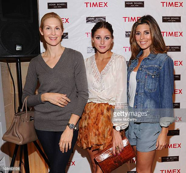 Actress Kelly Rutherford TV Personality Olivia Palermo and actress JamieLynn Sigler attend the Timex launch of Originals collection at Henri Bendel...
