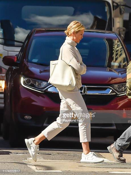 Actress Kelly Rutherford walks in SoHo on October 7, 2019 in New York City.