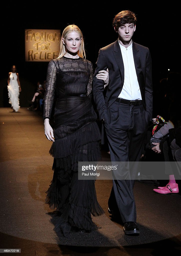 Actress Kelly Rutherford walks the runway at Naomi Campbell's Fashion For Relief Charity Fashion Show during Mercedes-Benz Fashion Week Fall 2015 at The Theatre at Lincoln Center on February 14, 2015 in New York City.