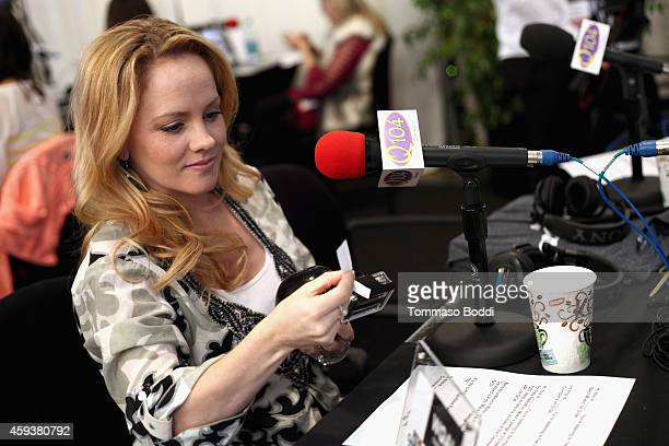 Actress Kelly Stables attends the 2014 American Music Awards Radio Row at Nokia Theatre LA Live on November 21 2014 in Los Angeles California