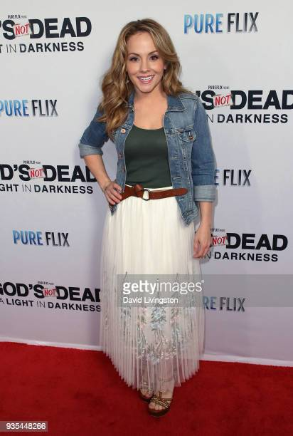Actress Kelly Stables attends the God's Not Dead A Light in Darkness premiere at American Cinematheque's Egyptian Theatre on March 20 2018 in...