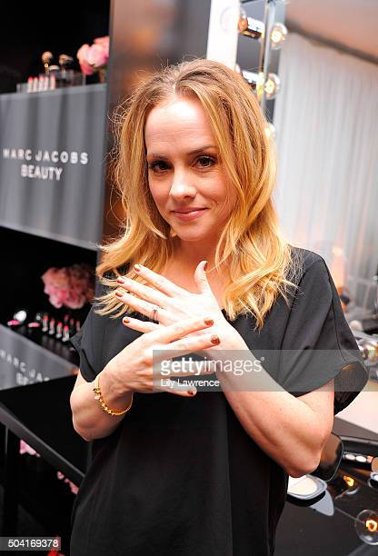 Actress Kelly Stables attends the HBO Luxury Lounge at the Four Seasons Hotel Los Angeles at Beverly Hills on January 9 2016 in Los Angeles California