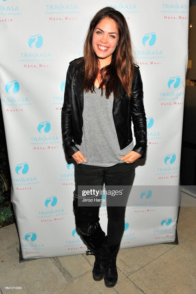 Actress Kelly Thiebaud attends Travaasa Resorts official LA experience event at Kinara Spa on March 19, 2013 in Los Angeles, California.
