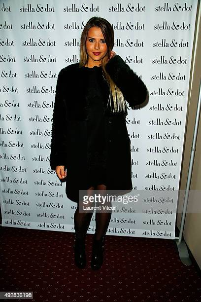 Actress Kelly Vedovelli attends the Stella Dot cocktail party to benefit Octobre Rose on October 15 2015 in Paris France