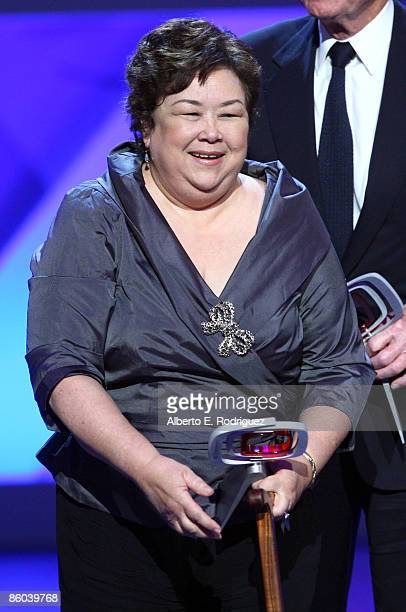 Actress Kellye Nakahara Wallet speaks onstage at the 7th Annual TV Land Awards held at Gibson Amphitheatre on April 19, 2009 in Unversal City,...