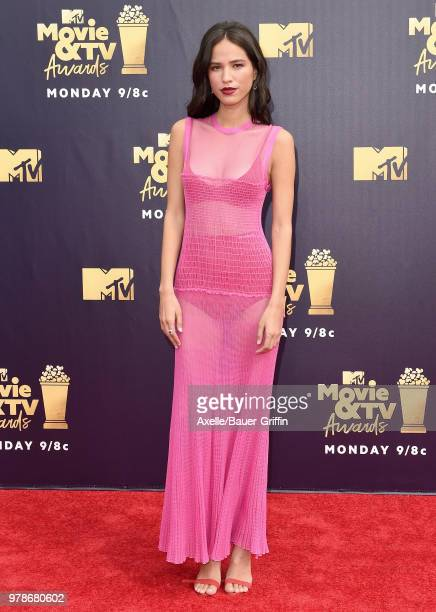 Actress Kelsey Asbille attends the 2018 MTV Movie And TV Awards at Barker Hangar on June 16 2018 in Santa Monica California