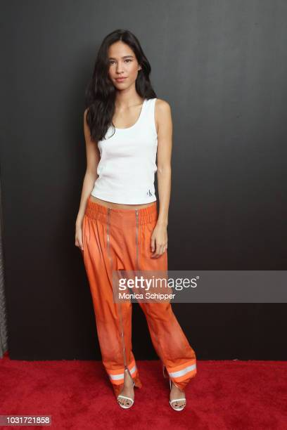 Actress Kelsey Asbille Chow attends the Calvin Klein Collection fashion show at New York Stock Exchange on September 11 2018 in New York City
