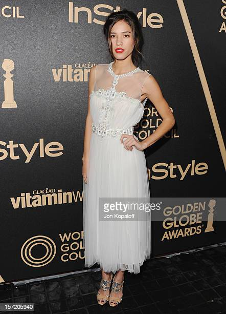 Actress Kelsey Chow arrives at The Hollywood Foreign Press Association And InStyle Miss Golden Globe 2013 Party at Cecconi's Restaurant on November...