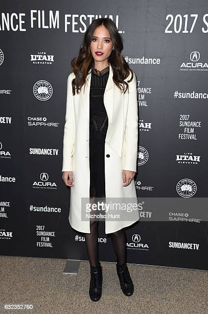 Actress Kelsey Chow attends the Wind River premiere on day 3 of the 2017 Sundance Film Festival at Eccles Center Theatre on January 21 2017 in Park...