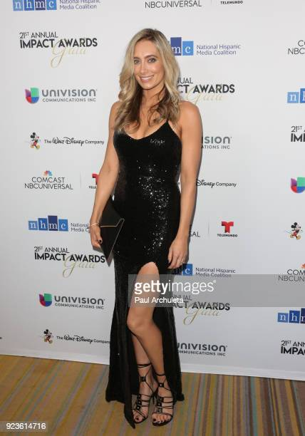 Actress Kelsey Crane attends the National Hispanic Media Coalition's 21st annual Impact Awards at the Beverly Wilshire Four Seasons Hotel on February...