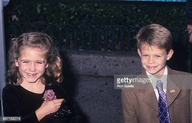 Actress Kelsey Lowenthal and actor Colin Ford attend the Sweet Home Alabama New York City Premiere on September 23 2002 at the Chelsea West Cinemas...