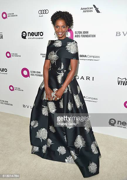Actress Kelsey Scott attends Neuro at the 24th Annual Elton John AIDS Foundation's Oscar Viewing Party at The City of West Hollywood Park on February...