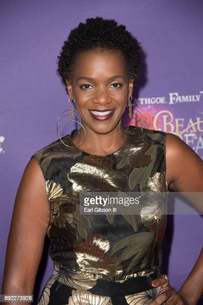 Actress Kelsey Scott attends the Lythgoe Family Pantos Opening Night Performance Of 'Beauty And The BeastA Christmas Rose' at Pasadena Civic...