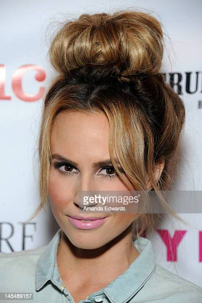 Actress Keltie Colleen arrives at the NYLON Magazine June/July Music Issue Launch Party With Shirley Manson at The Roxy Theatre on May 30 2012 in...