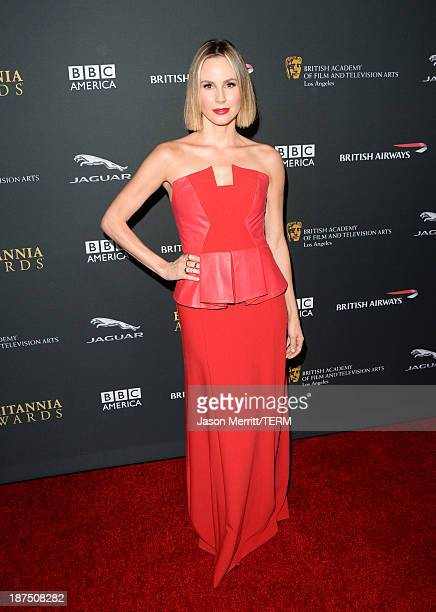 Actress Keltie Knight attends the 2013 BAFTA LA Jaguar Britannia Awards presented by BBC America at The Beverly Hilton Hotel on November 9, 2013 in...