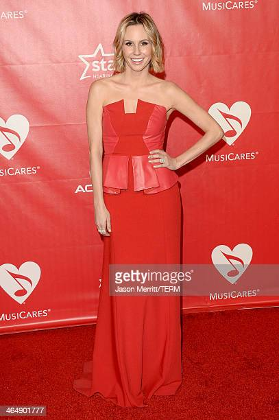 Actress Keltie Knight attends The 2014 MusiCares Person Of The Year Gala Honoring Carole King at Los Angeles Convention Center on January 24 2014 in...