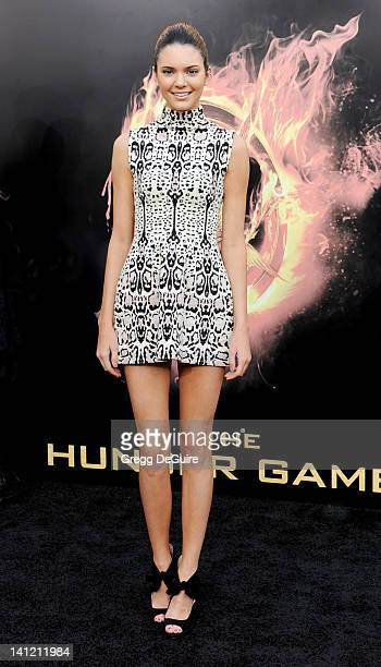 Actress Kendall Jenner arrives at The Hunger Games Los Angeles Premiere at Nokia Theatre LA Live on March 12 2012 in Los Angeles California