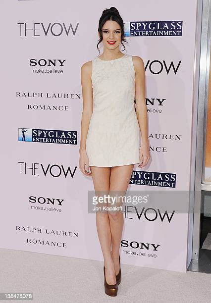 Actress Kendall Jenner arrives at the Los Angeles Premiere The Vow at Grauman's Chinese Theatre on February 6 2012 in Hollywood California