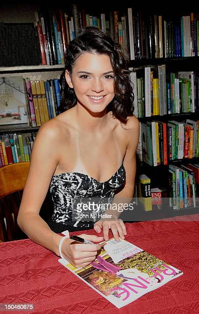 Actress Kendall Jenner signs copies of her Raine Magazine cover at Barnes Noble on August 18 2012 in Calabasas California