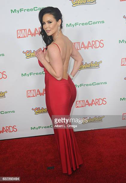Actress Kendra Lust arrives at the 2017 Adult Video News Awards held at the Hard Rock Hotel Casino on January 21 2017 in Las Vegas Nevada